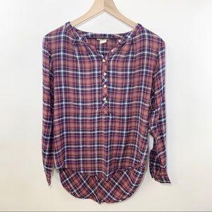 Lucky Brand Plaid Button Down Shirt Size Large
